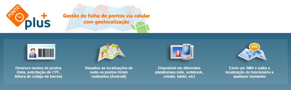 PONTOPLUS - PONTO VIA CELULAR E WEB